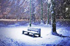 بارش برف در لنجان