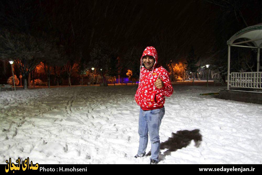 برف در لنجان